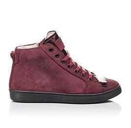Детские демисезонные ботинки Woopy Fashion бордовые для девочек натуральная замша размер 27-40 (4399) Фото 4