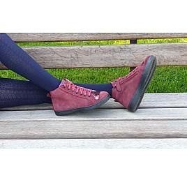 Детские демисезонные ботинки Woopy Fashion бордовые для девочек натуральная замша размер 27-40 (4399) Фото 6