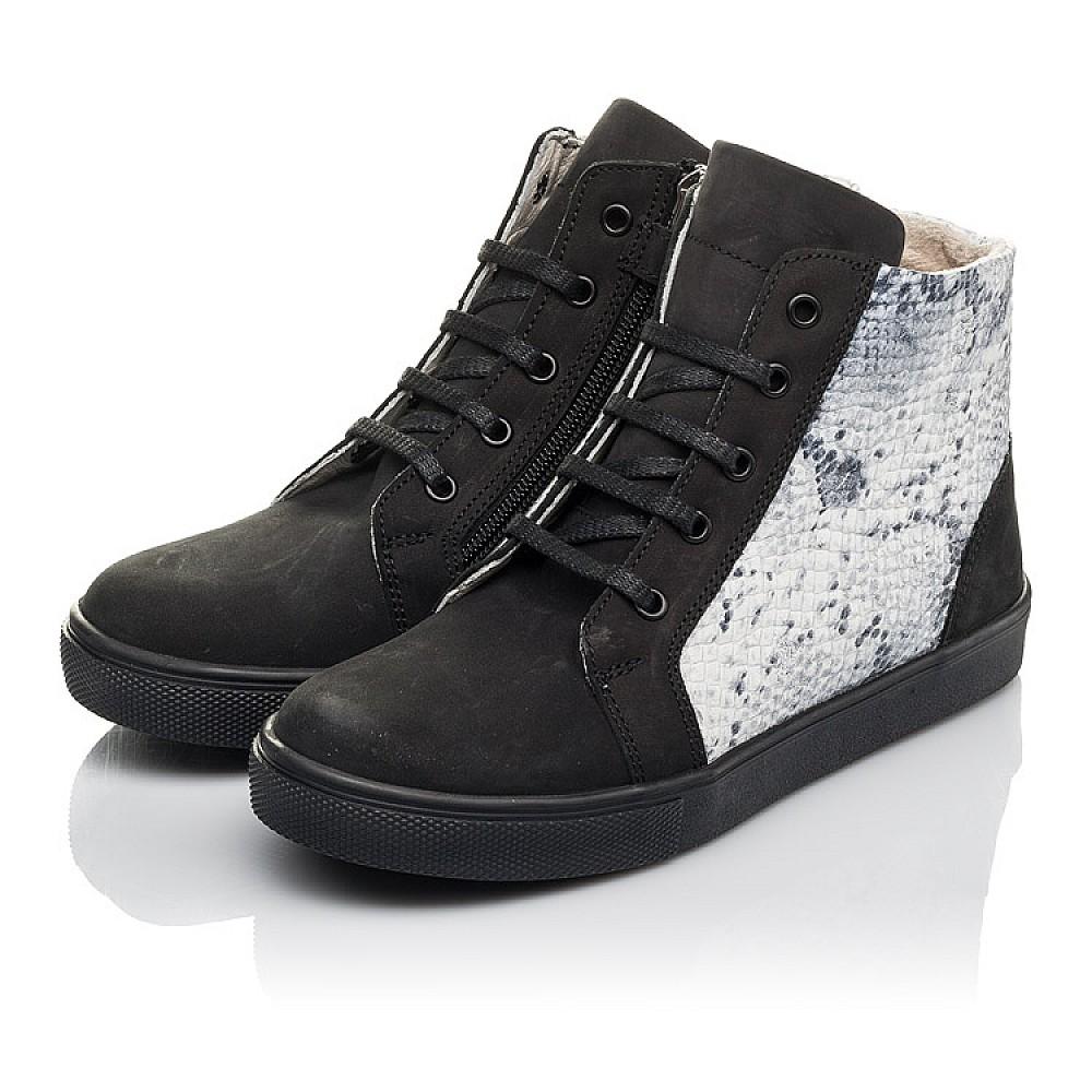 Детские демисезонные ботинки Woopy Fashion черные для девочек натуральный нубук размер 31-40 (4400) Фото 2