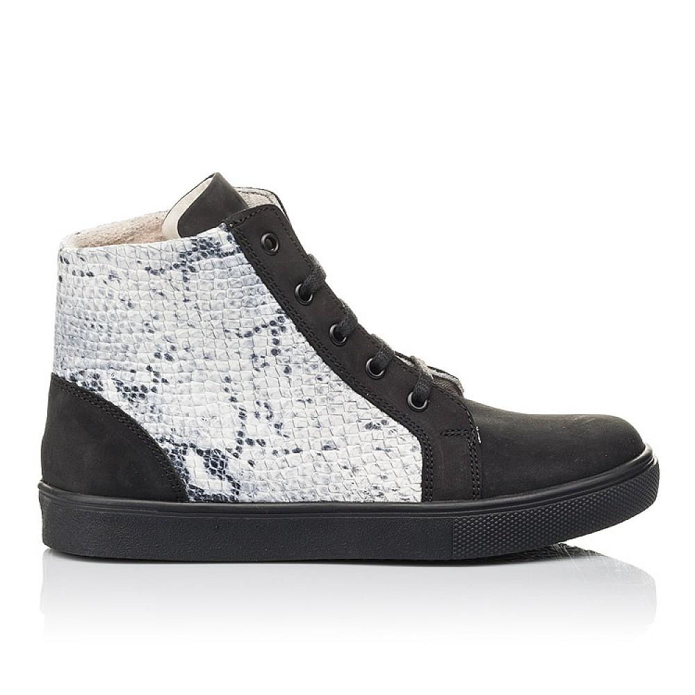 Детские демисезонные ботинки Woopy Fashion черные для девочек натуральный нубук размер 31-40 (4400) Фото 3