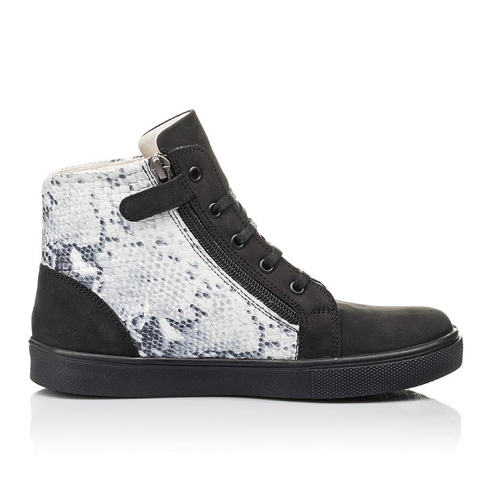 Детские демисезонные ботинки Woopy Fashion черные для девочек натуральный нубук размер 31-40 (4400) Фото 4