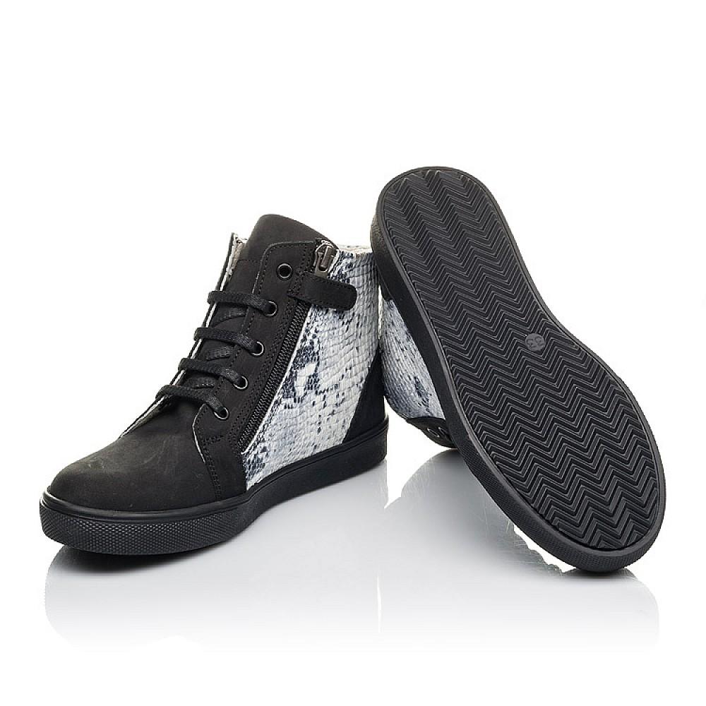 Детские демисезонные ботинки Woopy Fashion черные для девочек натуральный нубук размер 31-40 (4400) Фото 5