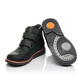Детские демисезонные ботинки Woopy Orthopedic зеленые для мальчиков натуральный нубук OIL размер 26-26 (4401) Фото 2