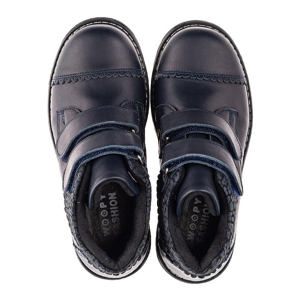Детские демисезонные ботинки Woopy Fashion синие для девочек натуральная кожа размер 30-39 (4402) Фото 5