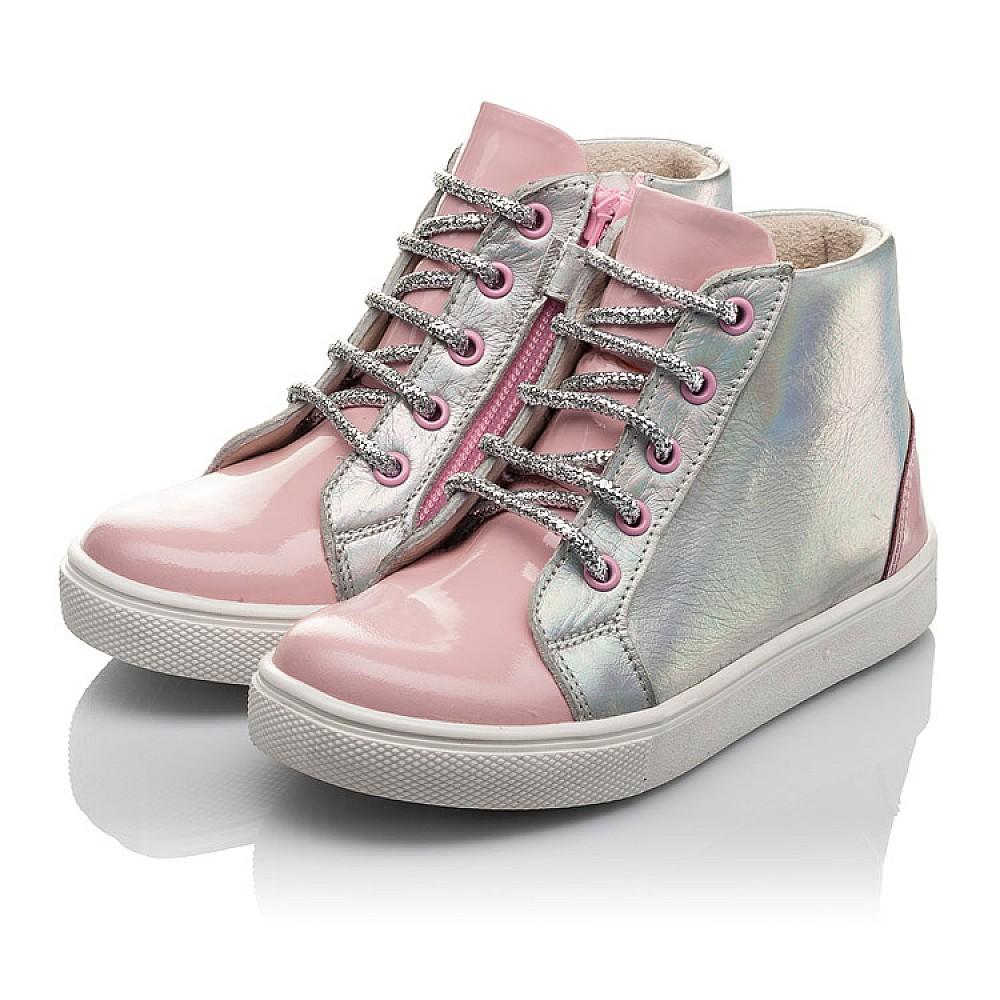 Детские демисезонные ботинки Woopy Fashion розовые для девочек натуральная кожа размер 22-30 (4403) Фото 3