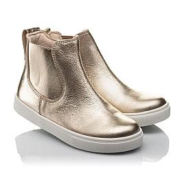 Детские демісезонні черевики Woopy Fashion золотые для девочек натуральная кожа размер 23-32 (4404) Фото 1