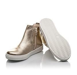 Детские демісезонні черевики Woopy Fashion золотые для девочек натуральная кожа размер 23-32 (4404) Фото 2