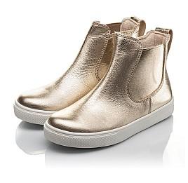 Детские демісезонні черевики Woopy Fashion золотые для девочек натуральная кожа размер 23-32 (4404) Фото 3