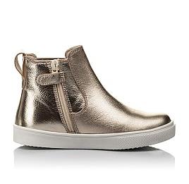 Детские демісезонні черевики Woopy Fashion золотые для девочек натуральная кожа размер 23-32 (4404) Фото 5