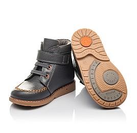 Детские демисезонные ботинки Woopy Orthopedic серые для мальчиков натуральная кожа размер 24-30 (4407) Фото 2