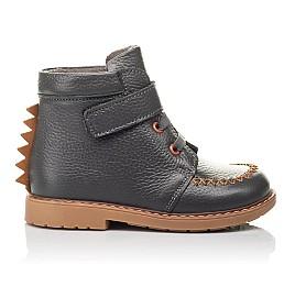 Детские демисезонные ботинки Woopy Orthopedic серые для мальчиков натуральная кожа размер 24-30 (4407) Фото 4