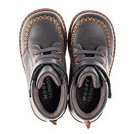 Детские демисезонные ботинки Woopy Orthopedic серые для мальчиков натуральная кожа размер 23-30 (4407) Фото 5