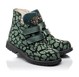 Детские демісезонні черевики Woopy Fashion зеленые для девочек натуральный нубук размер 29-36 (4410) Фото 1