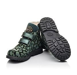Детские демісезонні черевики Woopy Fashion зеленые для девочек натуральный нубук размер 29-36 (4410) Фото 2