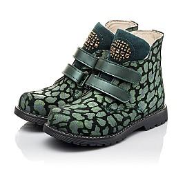 Детские демісезонні черевики Woopy Fashion зеленые для девочек натуральный нубук размер 29-36 (4410) Фото 3
