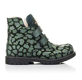 Детские демісезонні черевики Woopy Fashion зеленые для девочек натуральный нубук размер 29-36 (4410) Фото 4