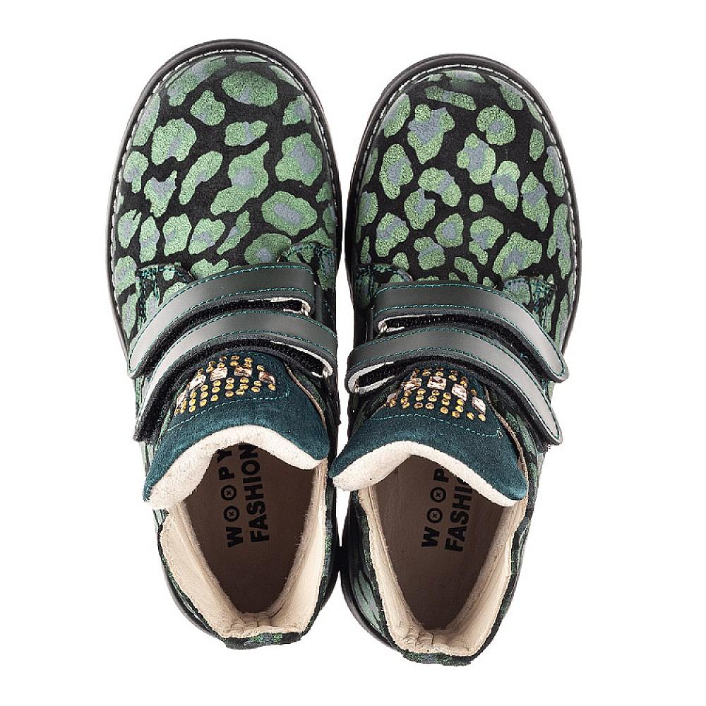 Детские демисезонные ботинки Woopy Fashion зеленые для девочек натуральный нубук размер 29-36 (4410) Фото 5