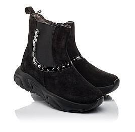 Детские демісезонні черевики Woopy Fashion черные для девочек натуральный нубук размер 33-40 (4411) Фото 1