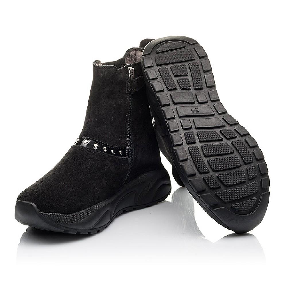 Детские демисезонные ботинки Woopy Fashion черные для девочек натуральный нубук размер 33-40 (4411) Фото 2
