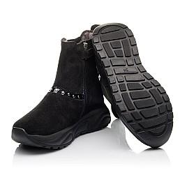 Детские демісезонні черевики Woopy Fashion черные для девочек натуральный нубук размер 33-40 (4411) Фото 2