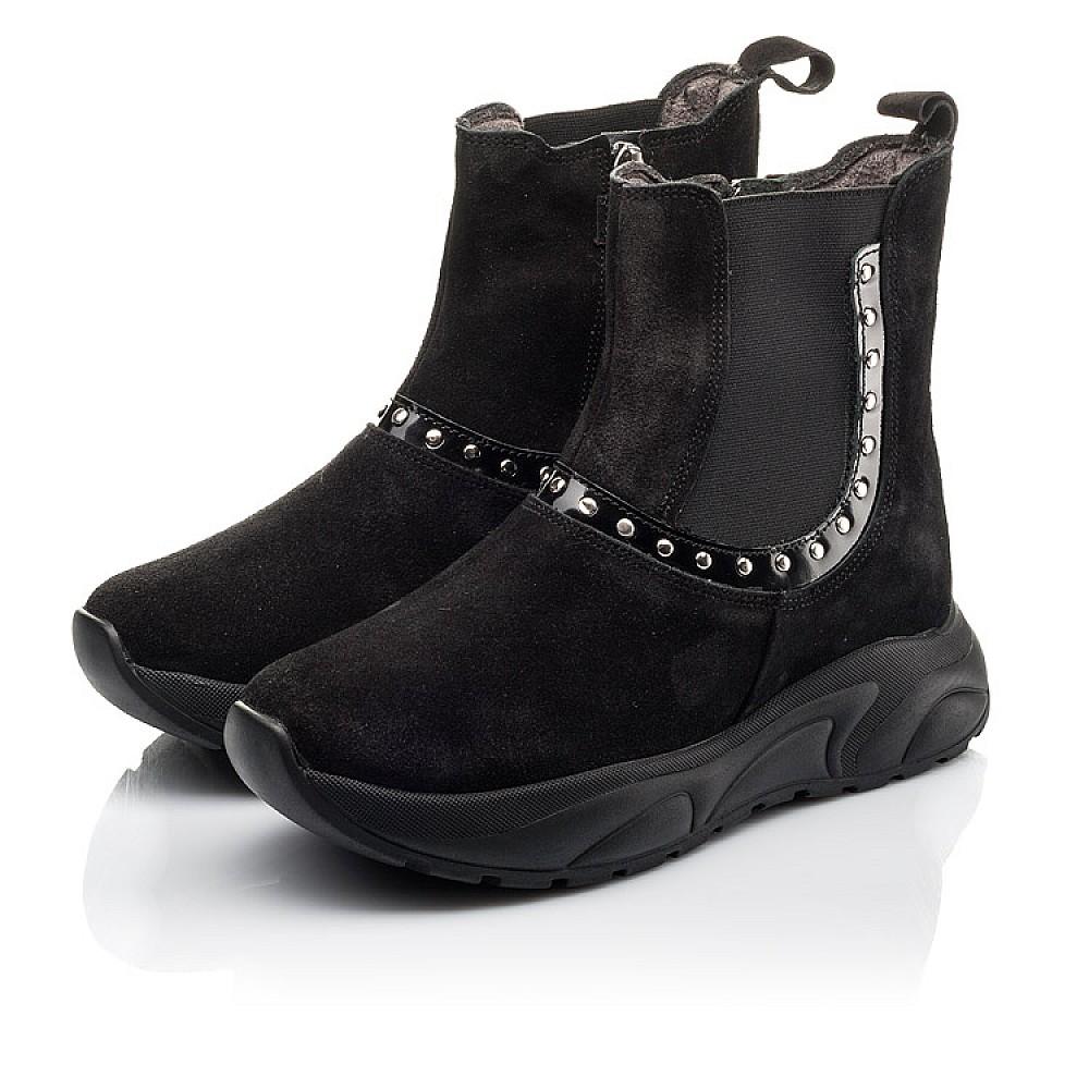 Детские демисезонные ботинки Woopy Fashion черные для девочек натуральный нубук размер 33-40 (4411) Фото 3