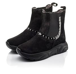 Детские демісезонні черевики Woopy Fashion черные для девочек натуральный нубук размер 33-40 (4411) Фото 3