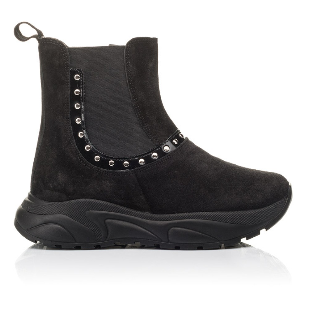 Детские демисезонные ботинки Woopy Fashion черные для девочек натуральный нубук размер 33-40 (4411) Фото 4