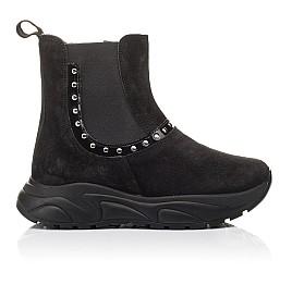 Детские демісезонні черевики Woopy Fashion черные для девочек натуральный нубук размер 33-40 (4411) Фото 4