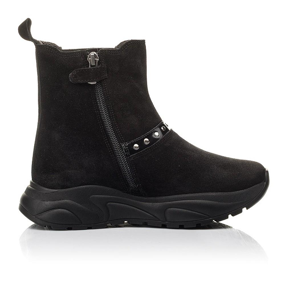 Детские демисезонные ботинки Woopy Fashion черные для девочек натуральный нубук размер 33-40 (4411) Фото 5