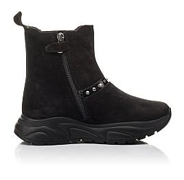 Детские демісезонні черевики Woopy Fashion черные для девочек натуральный нубук размер 33-40 (4411) Фото 5