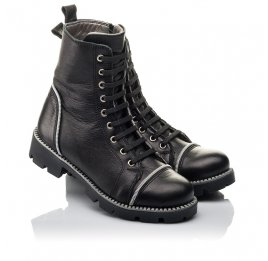 Детские зимние ботинки на меху Woopy Fashion черные для девочек натуральная кожа размер 33-40 (4413) Фото 1