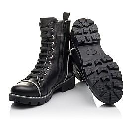 Детские зимние ботинки на меху Woopy Fashion черные для девочек натуральная кожа размер 33-40 (4413) Фото 2