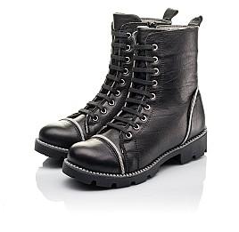 Детские зимние ботинки на меху Woopy Fashion черные для девочек натуральная кожа размер 33-40 (4413) Фото 3