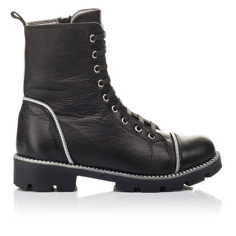 Детские зимние ботинки на меху Woopy Fashion черные для девочек натуральная кожа размер 33-40 (4413) Фото 4