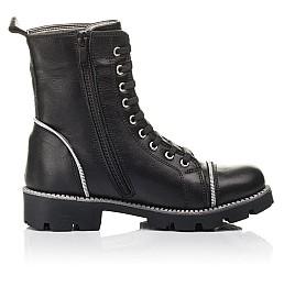 Детские зимние ботинки на меху Woopy Fashion черные для девочек натуральная кожа размер 33-40 (4413) Фото 5