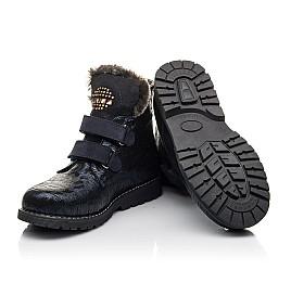 Детские зимние ботинки на меху Woopy Fashion синие для девочек натуральный нубук размер 20-28 (4414) Фото 2