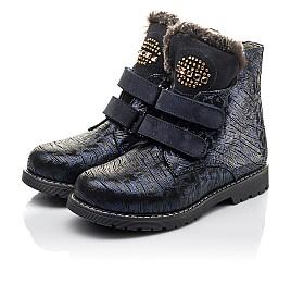 Детские зимние ботинки на меху Woopy Fashion синие для девочек натуральный нубук размер 20-38 (4414) Фото 3