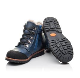 Детские зимние ботинки на меху Woopy Fashion синие для мальчиков натуральная кожа размер 21-33 (4415) Фото 2