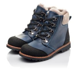 Детские зимние ботинки на меху Woopy Fashion синие для мальчиков натуральная кожа размер 21-33 (4415) Фото 3