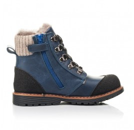 Детские зимові черевики на хутрі Woopy Fashion синие для мальчиков натуральная кожа размер 21-33 (4415) Фото 5