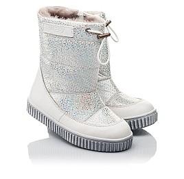 Детские зимние сапоги на меху Woopy Fashion белые для девочек натуральная кожа и нубук размер 23-33 (4416) Фото 1