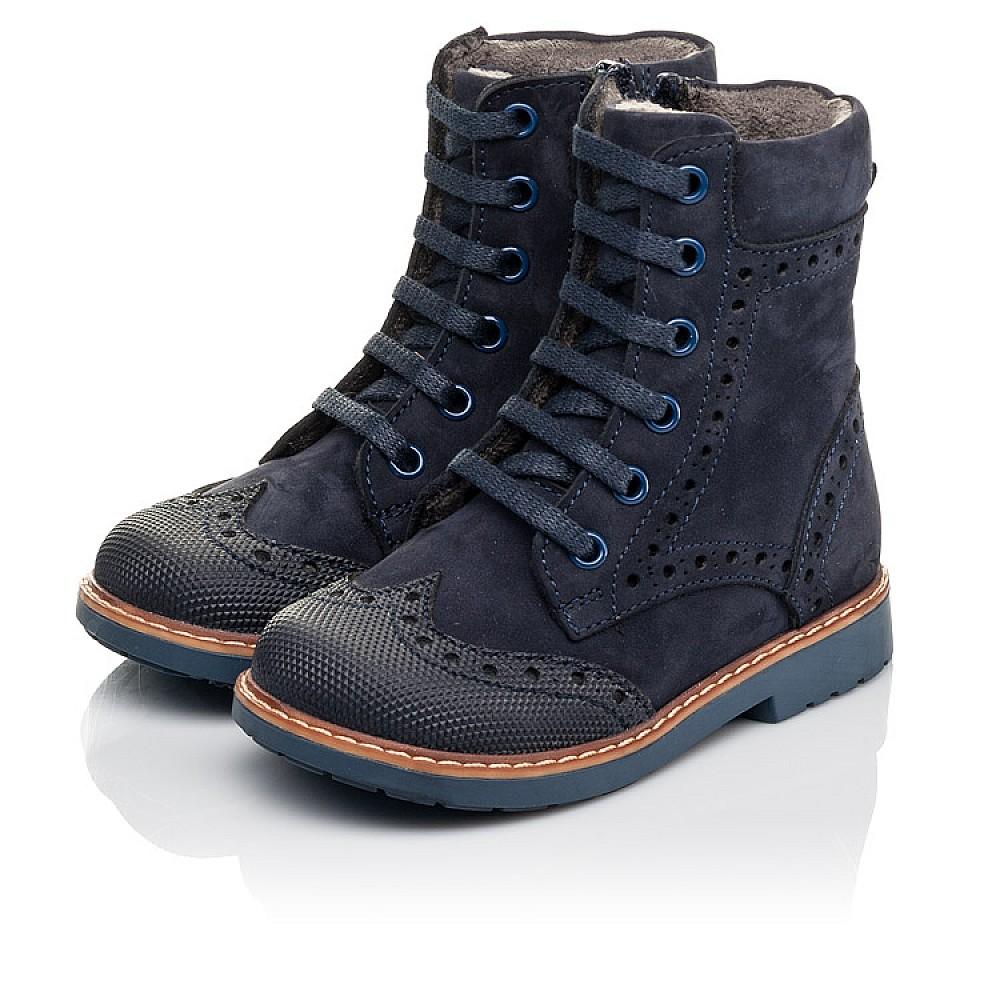 Детские демисезонные ботинки Woopy Orthopedic темно-синие для девочек натуральный нубук размер 21-25 (4417) Фото 3