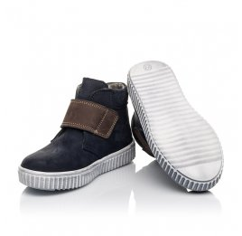 Детские демисезонные ботинки Woopy Fashion темно-синие для мальчиков натуральный нубук размер 23-33 (4419) Фото 2