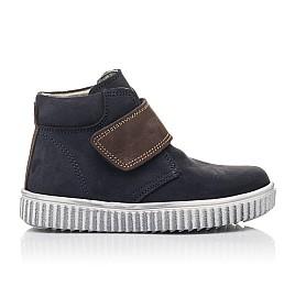 Детские демисезонные ботинки Woopy Fashion темно-синие для мальчиков натуральный нубук размер 23-33 (4419) Фото 4