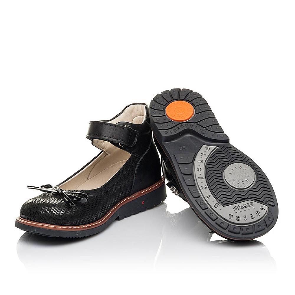 Детские туфли Woopy Orthopedic черные для девочек натуральная кожа и нубук размер 30-35 (4420) Фото 2