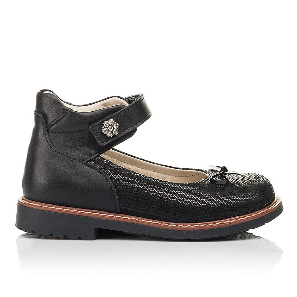 Детские туфли Woopy Orthopedic черные для девочек натуральная кожа и нубук размер 30-35 (4420) Фото 4