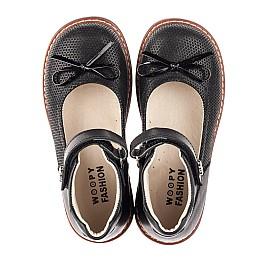Детские туфлі Woopy Orthopedic черные для девочек натуральная кожа и нубук размер 30-35 (4420) Фото 5