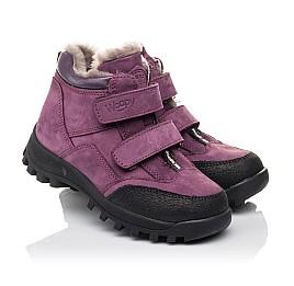 Детские зимние ботинки на меху Woopy Fashion фиолетовые для девочек натуральный нубук размер 26-31 (4421) Фото 1