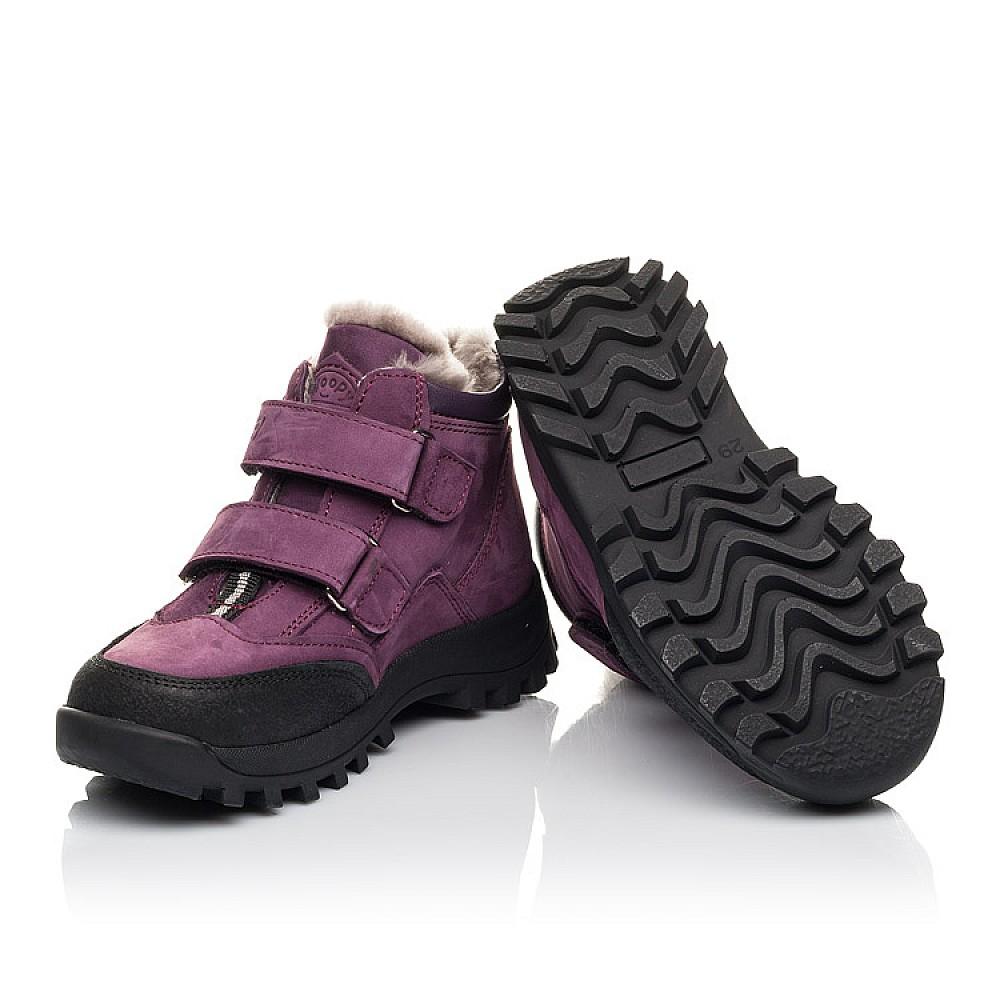 Детские зимние ботинки на меху Woopy Fashion фиолетовые для девочек натуральный нубук размер 24-36 (4421) Фото 2