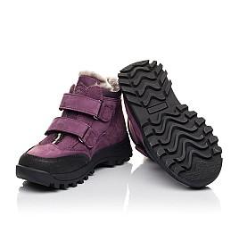 Детские зимние ботинки на меху Woopy Fashion фиолетовые для девочек натуральный нубук размер 26-31 (4421) Фото 2
